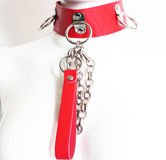 Red-Neck-Collar-with-Rings-and-Long-Leash-1