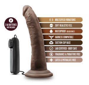 NAL BL-13706 Dr Skin 7in Vibe Black Cock 5